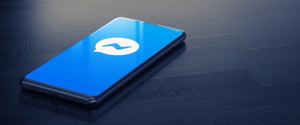 Application messenger sur téléphone